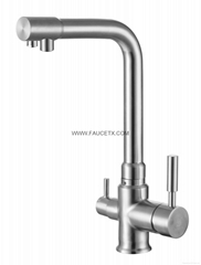 304 Stainless Steel 3 Way Water Filter Taps