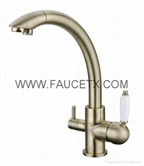 Rolya Osmosis Reverse Bronze 3 Way Water Filter Taps Kitchen Faucet