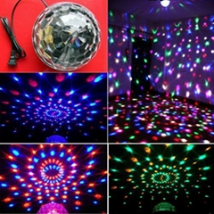 DJ Club Party LED Stage Lighting RGB LED Magic Crystal Ball Dancing Light LB01
