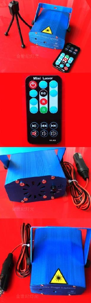 Remote Control 12V-24V Cigar Lighter Mini Firefly Laser DJ Disco Car Light RC091 2