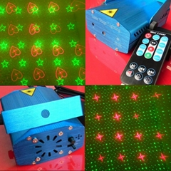 Remote Control Mini Laser Music Activated Party Light RS094A