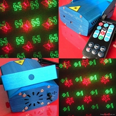 Music Activated Remote Control Mini Laser 6 Patterns Party Light RS096E