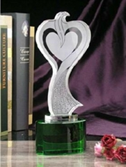 crystal glass trophy