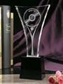 crystal glass trophy 2