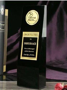 crystal glass trophy 3