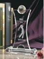 crystal glass trophy 5