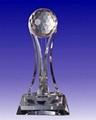 水晶獎杯,水晶工藝品,水晶獎牌