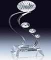 Crystal trophy, crystal awards, crystal crafts 7