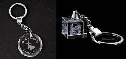水晶钥匙扣,LED钥匙扣,激光内雕钥匙扣 1