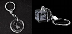 水晶鑰匙扣,LED鑰匙扣,激光內雕鑰匙扣