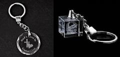 水晶钥匙扣,LED钥匙扣,激光内雕钥匙扣