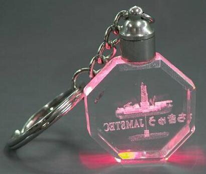 水晶钥匙扣,LED钥匙扣,激光内雕钥匙扣 3