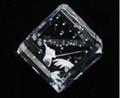 3D激光內雕水晶工藝品,水晶獎牌,水晶方體 3