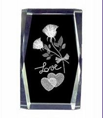 3D laser engraving crystal crafts,crystal awards,Crystal Cube