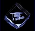 3D激光內雕水晶工藝品,水晶獎牌,水晶方體 2