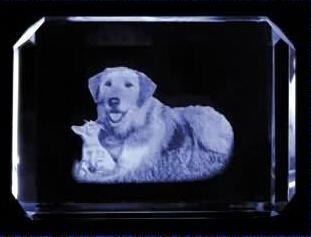3D激光內雕水晶工藝品,水晶獎牌,水晶方體 4