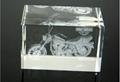 3D激光內雕水晶工藝品,水晶獎牌,水晶方體 5