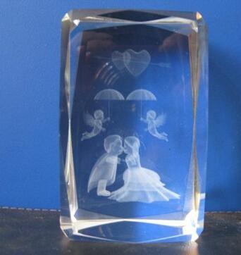 3D激光內雕水晶工藝品,水晶獎牌,水晶方體 8