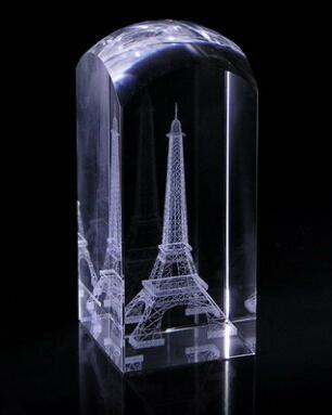 3D激光內雕水晶工藝品,水晶獎牌,水晶方體 10
