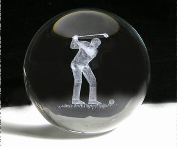 3D激光內雕水晶工藝品,水晶獎牌,水晶方體 11