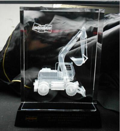 3D激光內雕水晶工藝品,水晶獎牌,水晶方體 12