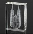 3D激光內雕水晶工藝品,水晶獎牌,水晶方體 13