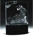3D激光內雕水晶工藝品,水晶獎牌,水晶方體 16