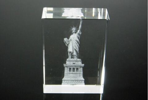 3D激光內雕水晶工藝品,水晶獎牌,水晶方體 18