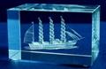 3D激光內雕水晶工藝品,水晶獎牌,水晶方體 20