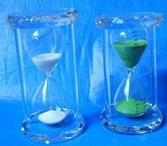 Crystal glass hourglass