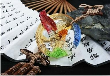 Coloured glaze,lazurite pendants,glass buddha 2