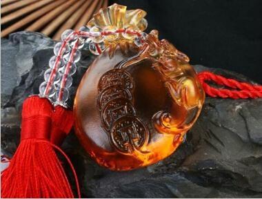 Coloured glaze,lazurite pendants,glass buddha 6