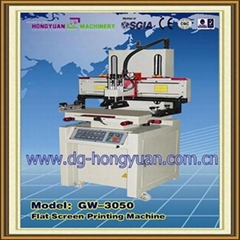 flatbed screen printing machine with vacuum worktable