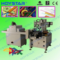 automatic single color ruler screen printing machine with drying system