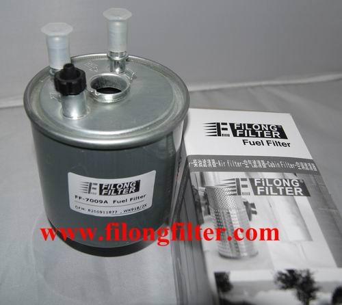 FILONG Manufactory FILONG Automotive Filters 8200911877 7701478277 8200911875 164005033R WK9022 P11046 FCS752 FP5937 FF-7009A