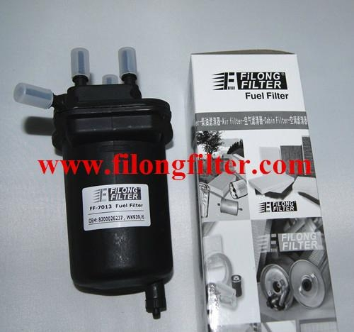 FILONG Manufactory FILONG Automotive Filters 8200026237  15410-84A00  WK939/6  FILONG Fuel filter  FF-7013   For Renault