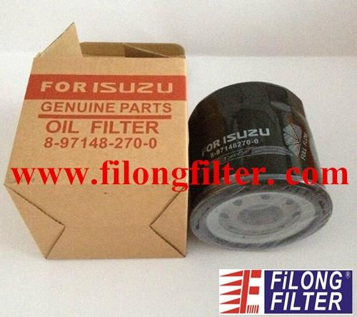 FILONG FOR ISUZU Oil Filter 8-97148270-0  8971482700 8-97148270-0 8971482700 8-97148270-0  8-9714-8270-0  8971482700 8-97148270-0 8971482700
