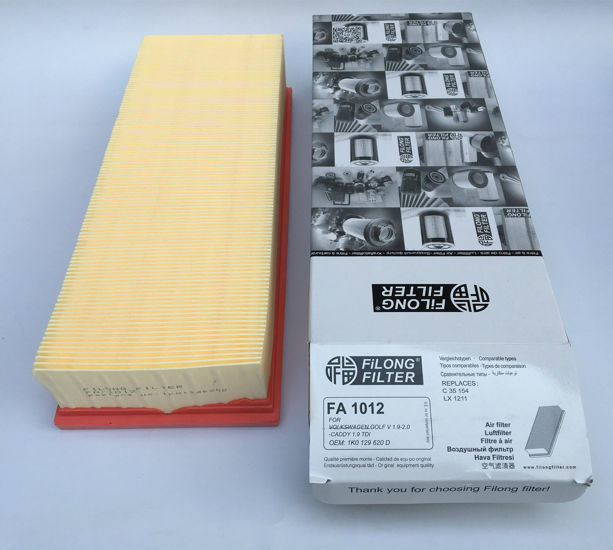 FILONG Automotive Filters   FA-1012,1K0129620F/C, C35154,LX1211 AP139/2