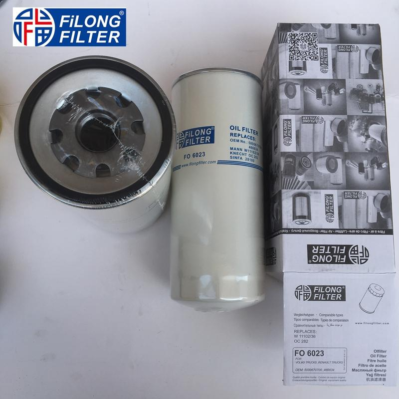 FILONG Manufactory FILONG Automotive Filters 5000670700  466634 W11102/36 W11102/11 FILONG Filter  FO6023 FOR VOLVO