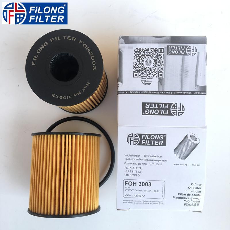 HU711/51x 1109X3 1109AH 1109CK 1109CL 1109X4 FILONG Filter FOH-3003 for Peugeot