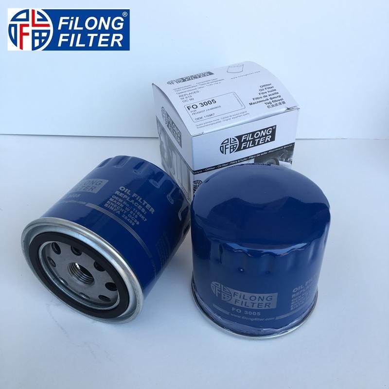 FILONG Manufactory FILONG Automotive Filters  W815 OC99 GL568 1109.75  LS468 FILONG Filter FO3005 for Peugeot