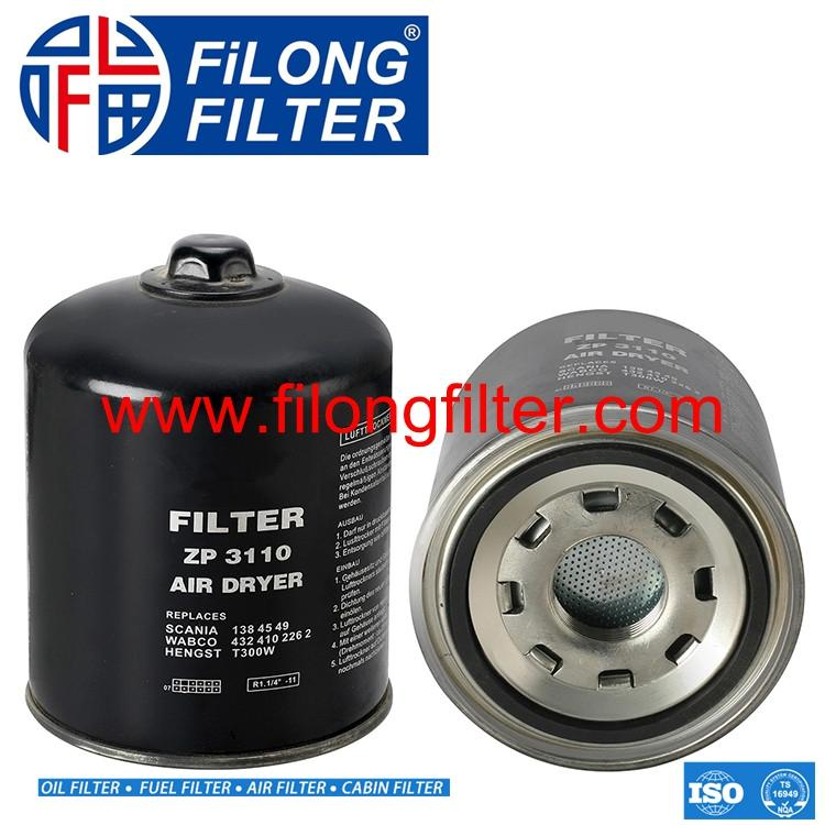 FILONG Factory Manufacturing Truck Air Dryer  Air Dryer 1384549/1455253 4324102262/432 410 2232/4324109272 HENGST T300W MANN TB 1394/3X WABCO Air dryer (WBACC-05)
