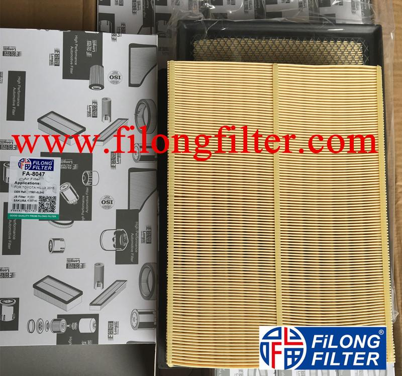 FILONG FILTER Manufactory  AIR FILTER FA-8047 17801-OL040 17801OL040 C32011