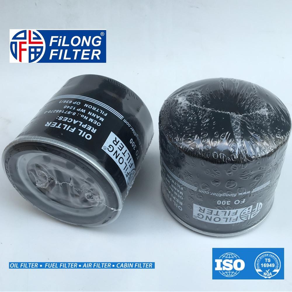 FILONG manufacturer  For ISUZU Oil Filter  FO-300 8-97148270-0 8-97096777-0 WP1240  8-97096-777-0 8-97148-270-0, 8-97371334-0 OP636/3 SK815