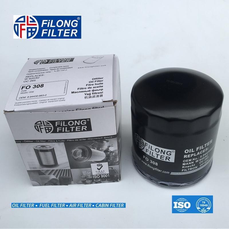 FILONG manufacturer Oil Filter  for ISUZU FO-308 8-97049708-1 8-94430983-0   2
