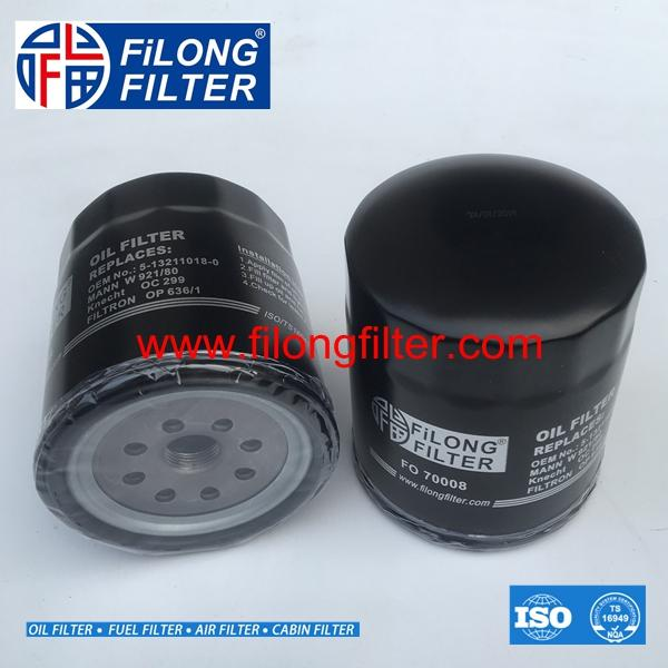FILONG Manufactory Oil Filter  FO-70008 5-13211018-0  5132110180 5132110181 8941673990  8942088630 8943257690  8944289310 8944467501 93156945, 94028863 9885111942  9885131061 ME004099  ME014833 ME04099 MEO04099  MEO14833