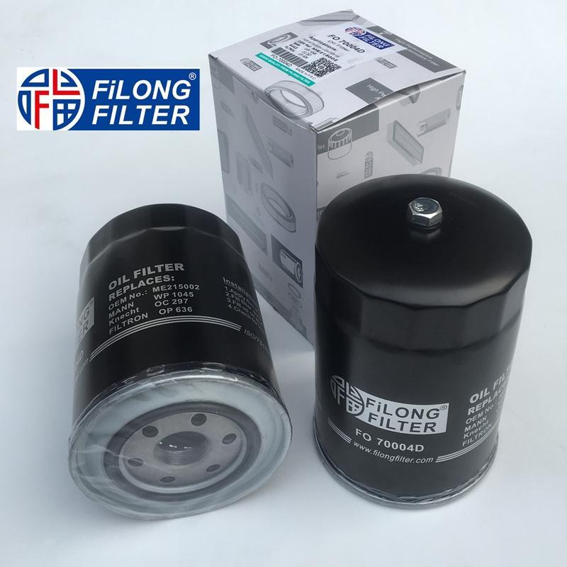 FILONG Manufactory Oil Filter FO-70004D ME215002 WP1045 OC297 H96W03  1230A046 ME013307 ME013307V ME013343 ME202472 PH5529 PH5586 SK810  OP587/2 OP636 LS911