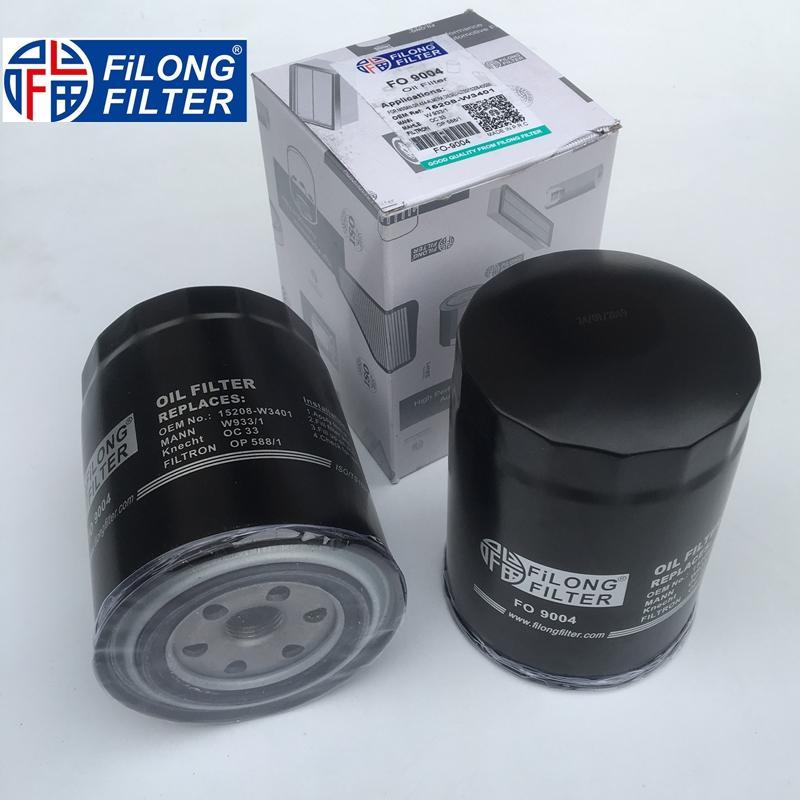 FILONG Manufactory Oil Filter  FO-9004 15208-W1194 15208-65010 WP928/82 15208-40L02 H17W20 PH5126 OC273 SK801
