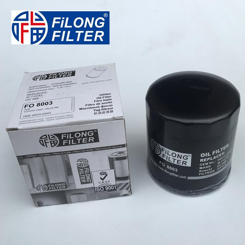 FILONG Manufactory Oil Filter FO-8003 90915-20003 9091520003