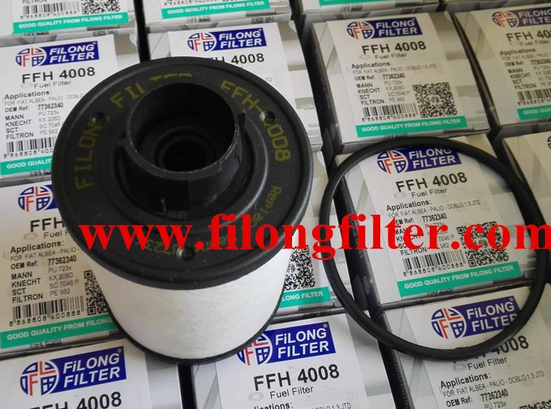 FILONG Manufactory FILONG Automotive Filters  PU723x 77362340 1906-98 1906-C4  FILONG Filter FFH-4008 for FIAT